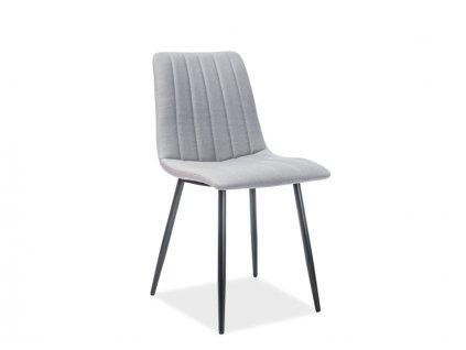 Židle ALAN černá kostra / šedé polstrování č. 123
