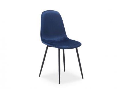 Židle FOX Velvet černá kostra/tmavě modré polstrování č.91