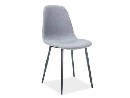 Židle FOX černá kostra/ šedé polstrování č.49