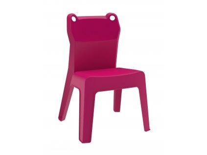 Židle dětská JAN FROG růžová