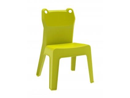 Židle dětská JAN FROG zelená