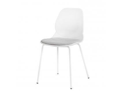 Židle LAYER polstrování č.4 bílá