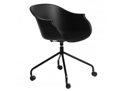 Židle na kolečkách ROUNDY černá