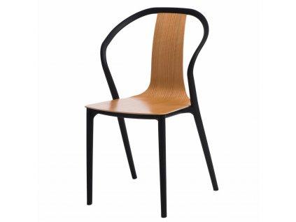 Židle BELLA černá/přírodní