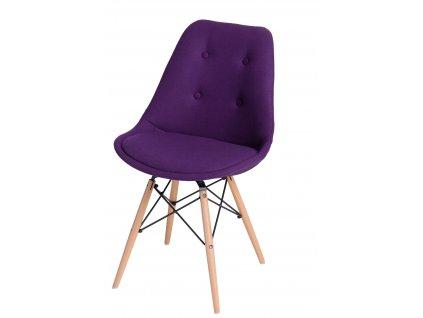 Židle NORDEN DSW fialové prošívání