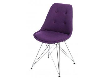 Židle NORDEN DSR fialové prošívání