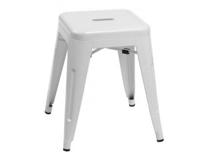 Stolička PARIS bílá inspirovaná Tolix