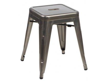 Stolička PARIS metalická inspirovaná Tolix
