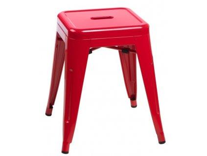 Stolička PARIS červená inspirovaná Tolix
