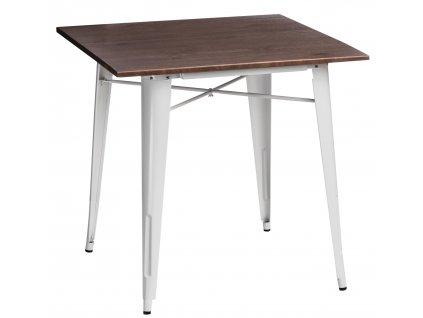 Stůl PARIS WOOD bílý borovice ořech