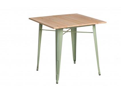 Stůl PARIS WOOD zelený borovice přírodní