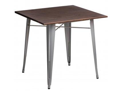 Stůl PARIS WOOD šedý borovice ořech