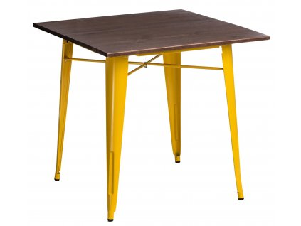Stůl PARIS WOOD žlutý borovice ořech