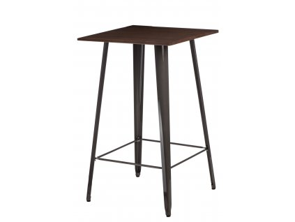 Stůl barový PARIS WOOD kov borovice ořech