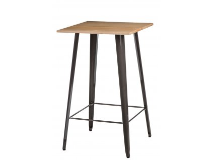 Stůl barový PARIS WOOD kov borovice přírodní
