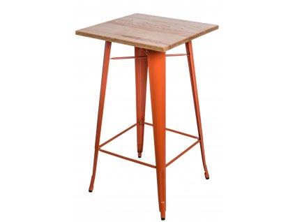 Stůl barový PARIS WOOD oranžový jasan