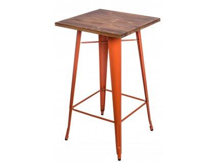 Stůl barový PARIS WOOD oranžový borovice