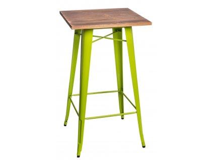 Stůl barový PARIS WOOD světle zelený borovice