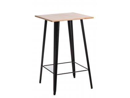 Stůl barový PARIS WOOD černý borovice přírodní