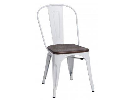 Židle PARIS WOOD bílá borovice kartáčovaná