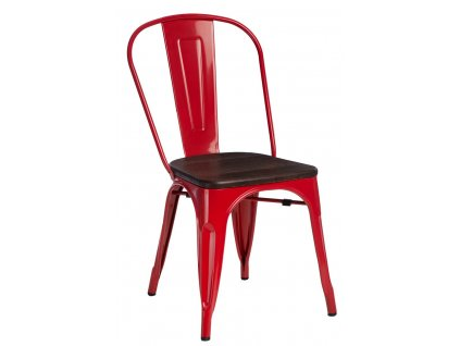 Židle PARIS WOOD červená borovice kartáčovaná