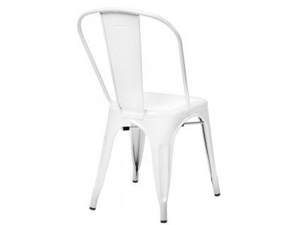 Židle PARIS bílá inspirovaná Tolix