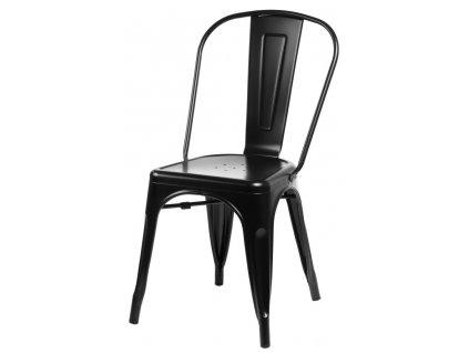 Židle PARIS černá inspirovaná Tolix