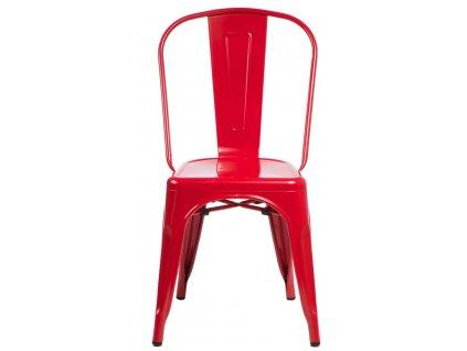 Židle PARIS červená inspirovaná Tolix