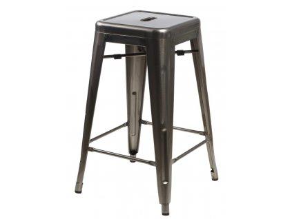 Barová židle PARIS 75cm kovová inspirovaná Tolix