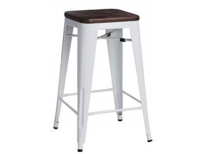 Barová židle PARIS WOOD 75cm bílá borovice kartáčovaná