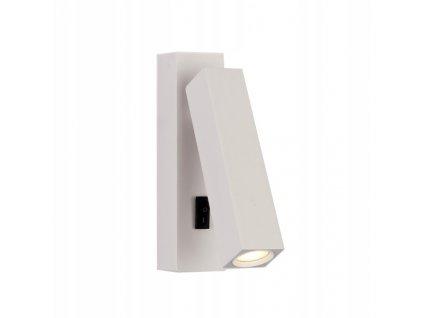 Lampa nástěnná LED TROTAN s vypínačem bílá