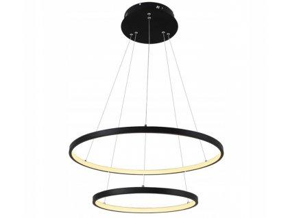 Lampa závěsná Ring lustr LED 63W černý