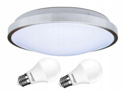 Sada svítidlo stropní lampa 2x E27 FORZA + 2x žárovka LED 10W 800lm