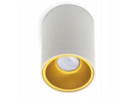 Svítidlo na povrch GU10 bílé + zlaté