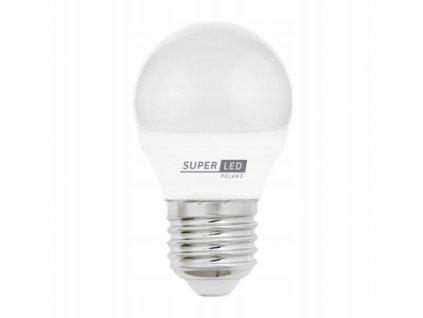 Žárovka LED E27 2W 180lm koule bílá teplá