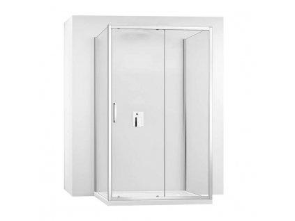 Kabina sprchová REA SLIDE PRO ke stěně  Varianta produktu - dveře: 150 x Stěny: 80