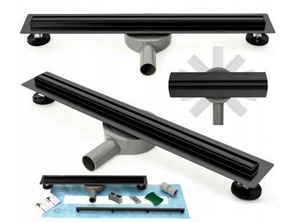 Odtok liniový NEO SLIM PRO BLACK |Varianta produktu - 80 cm