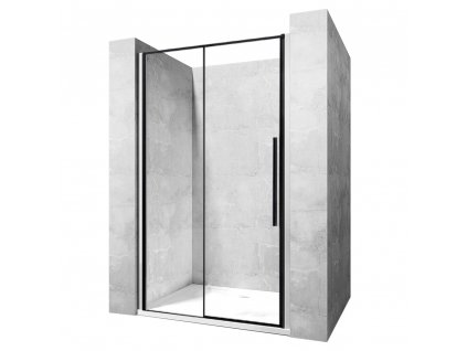 Dveře sprchové SOLAR černý mat 130