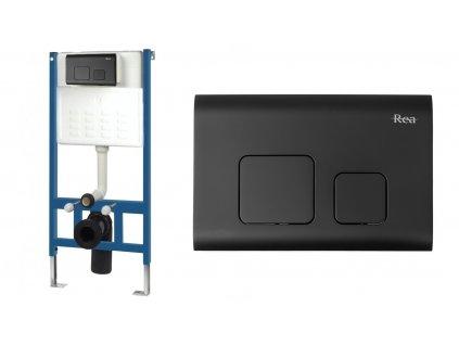 Kostra sada podomítková pro WC mísy s tlačítkem F BLACK
