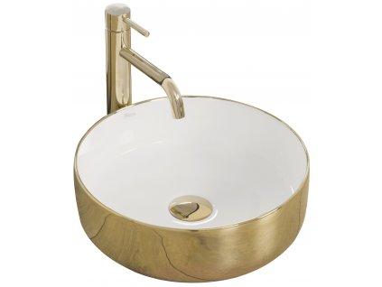 Umyvadlo keramické na pracovní desku SAMI GOLD bílé