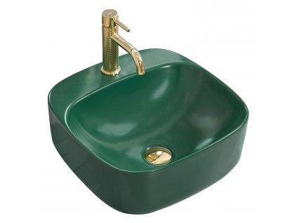 Umyvadlo na pracovní desku REA LUIZA 42 zelený mat