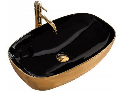 Umyvadlo keramické na pracovní desku RICH GOLD/BLACK