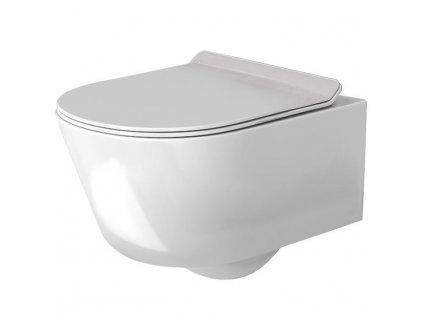 Mísa WC závěsná REA TORES RIMLESS