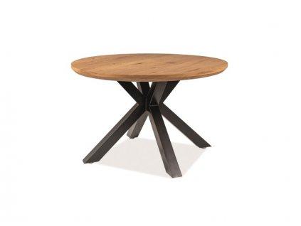 Stůl RITMO dub/černá kostra * 120