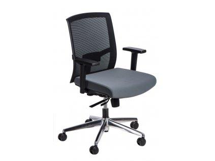 Křeslo kancelářské Ergo černé/šedé