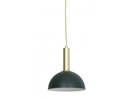 Lampa závěsná Boste tmavě zelená zlatá