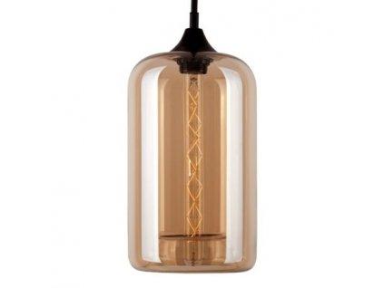 Lampa závěsná London Loft 4 jantarová