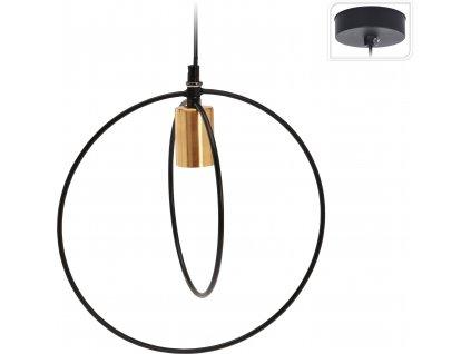 Lampa závěsná Romen Intesi černá