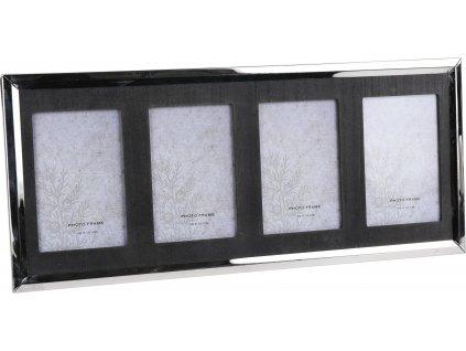 Rámeček na 4 fotografie Migen Intesi stříbrný