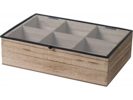 Organizer Teabox Wood 6 přihrádek